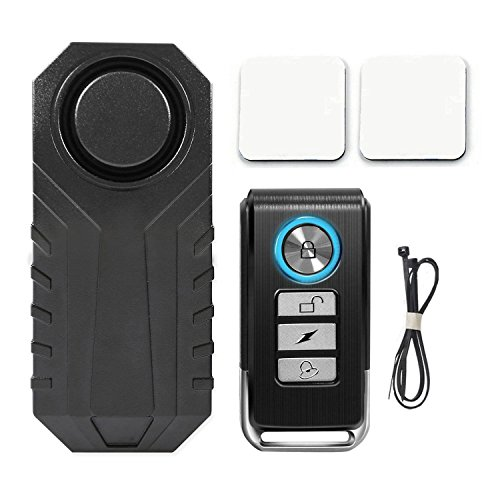 Wsdcam 113dB Wireless Anti-Theft Vibration Motorcycle Bicycle Alarm Waterproof Security Cycling  ...
