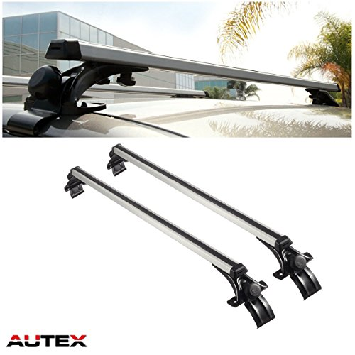"""AUTEX 48"""" Aluminum Universal Car Roof Rack Cross Bars with 3 Pair of Mounting Clamps Bike  ..."""
