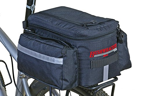 Bushwhacker® Mesa Trunk Bag Black – w/ Rear Light Clip Attachment & Reflective Trim &# ...