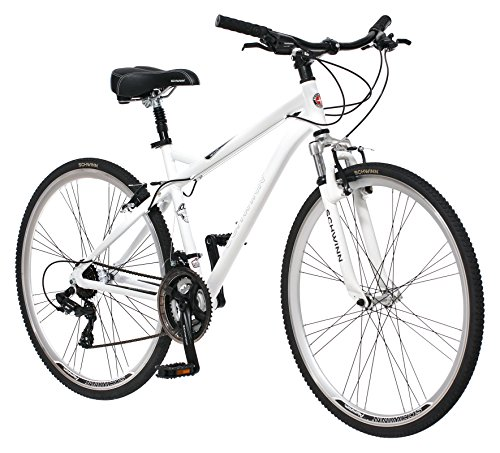Schwinn Men's Network 3.0 700C Wheel Men's Hybrid Bicycle White, 18′ Frame size