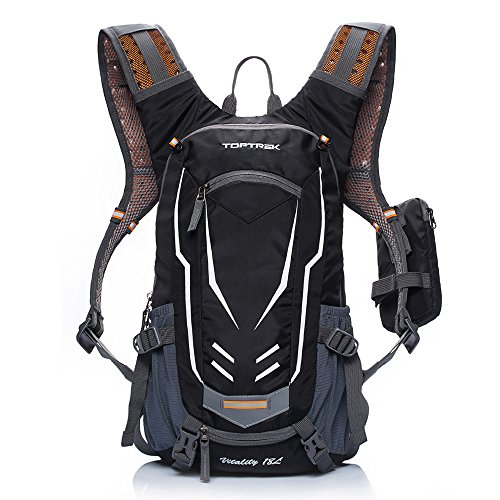 TOPTREK Cycling Backpack Waterproof for Men and Women Mountain/Road/Street Bike Hydration Bladde ...