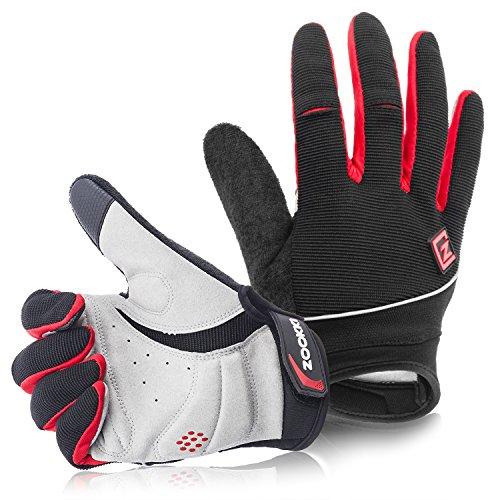 Zookki Work Gloves,Full finger-Black,XL(9.0inches-9.8inches)