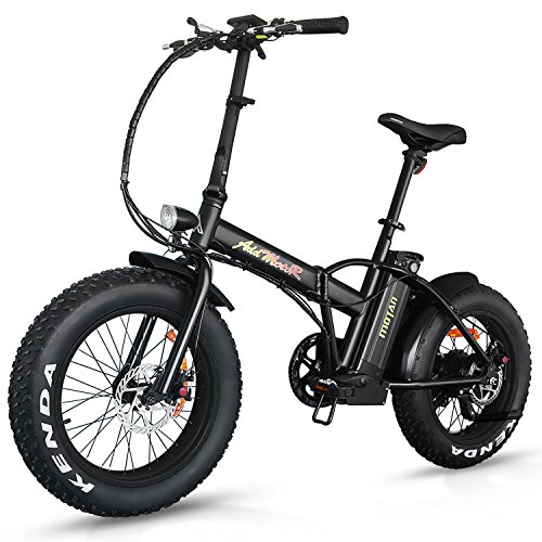 Addmotor Motan Electric Fat Tire 20Inch Bikes 500w 48v Snow Folding Bicycles Lithium Battery 4 C ...