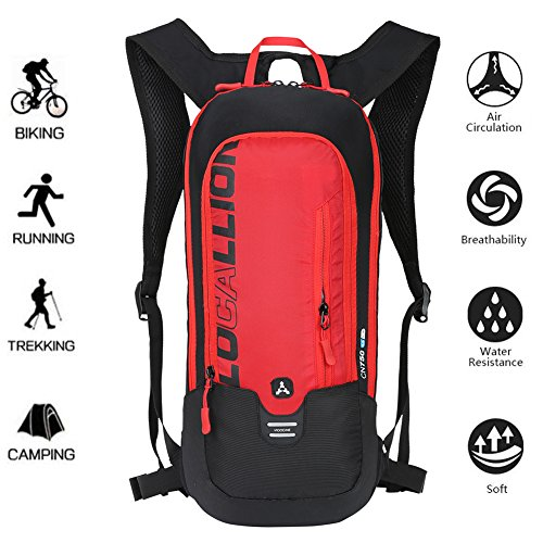 LOCALLION Cycling Backpack Biking Backpack Riding Daypack Bike Rucksack Breathable Lightweight f ...