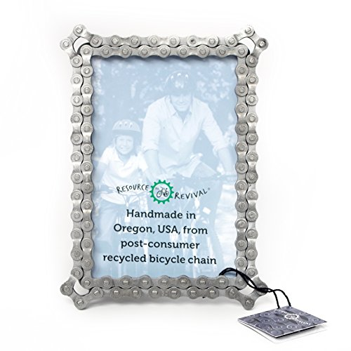 Bike Chain Picture Frame by Resource Revival | Recycled Bicycle Photo Holder | Rustic and Modern ...