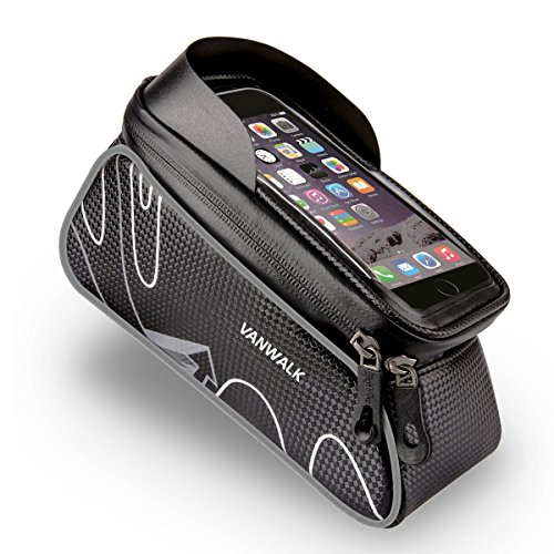 VANWALK In Frame Bike Bag with Waterproof Touch Screen Phone Case for iPhone X 8 7 6s 6 plus 5s  ...
