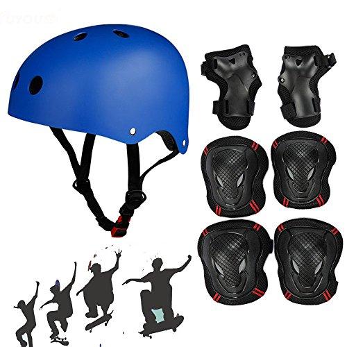 SymbolLife Adjustable Skateboard / Skate Helmet with Protective Gear Knee Pads Elbow Pads Wrist  ...