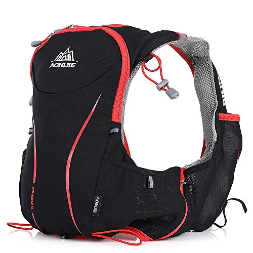 NACATIN Waterproof Nylon Outdoor Hydration Pack Vest Backpack for Camping Running Cycling Hiking ...