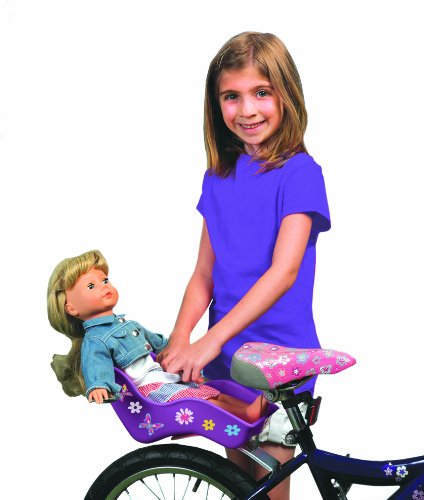 """Doll Bicycle Seat – """"Ride Along Dolly"""" Bike Seat (Purple) with Decorate Yourse ..."""