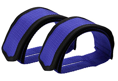 Outgeek 1 Pair Bike Pedal Straps Pedal Toe Clips Straps Tape for Fixed Gear Bike (blue)