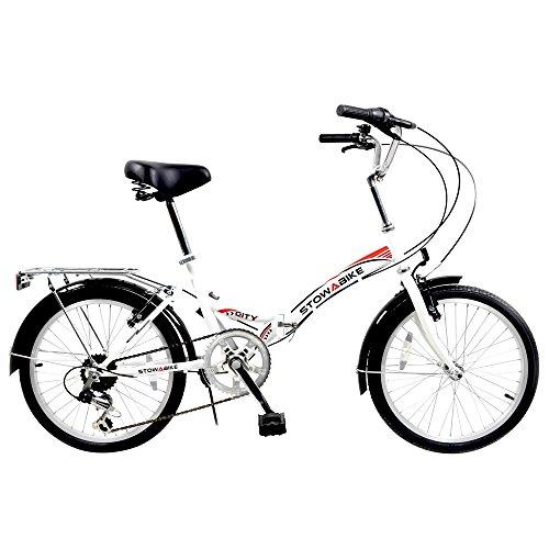 Stowabike 20″ Folding City V2 Compact Foldable Bike – 6 Speed Shimano Gears White