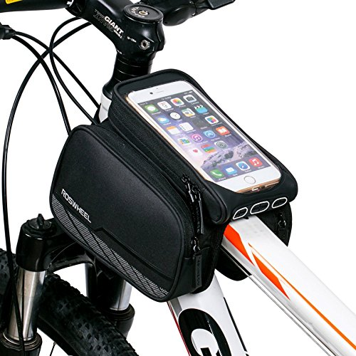 ArcEnCiel Mountain Road Bike Bag Touchscreen Bicycle Pack Double Pouch Cycling Front Frame Tube  ...