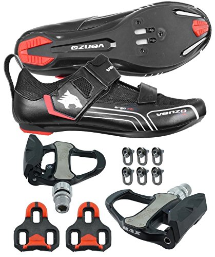 Venzo Road Bike For Shimano SPD SPD SL Look Cycling Bicycle Shoes & Pedals 46