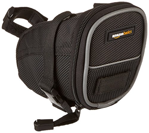 AmazonBasics Strap-On Wedge Saddle Bag for Cycling – Small