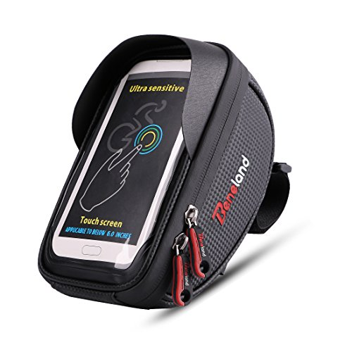 Bike Bag, Waterproof Touch Screen Bicycle Handbar Front Phone Frame Bag Holder For iPhone 8 7 Pl ...