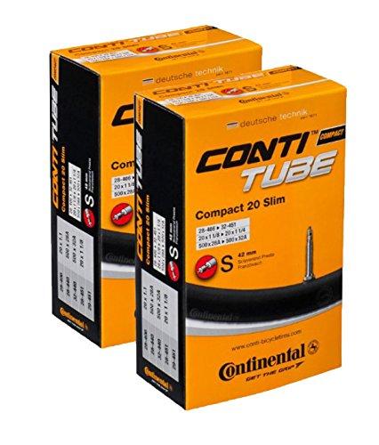 Continental 42mm Presta Valve Tube (2-Pack, 26 x 1.75-2.5cc)