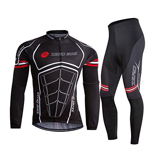 ZEROBIKE® Men's Soft Long Sleeve Breathable Bicycle Cycling Jersey Polyester Clothing Outd ...