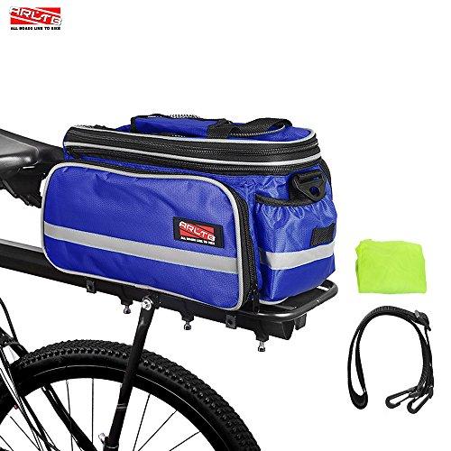 Arltb Bike Rear Bag (3 Colors) 20 – 35L Waterproof Bicycle Trunk Bag with Rain Cover Shoul ...