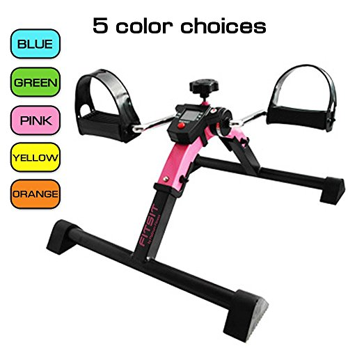 Platinum Fitness PFP2200 Fit Sit Deluxe Folding Pedal Exerciser Leg Machine with Electronic Disp ...