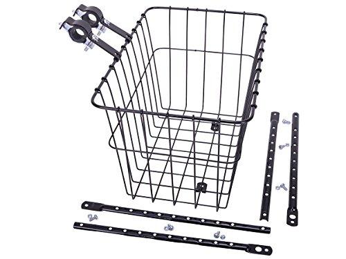 Wald 198 Front Bicycle Basket (14.5 x 9.5 x 9, Black)