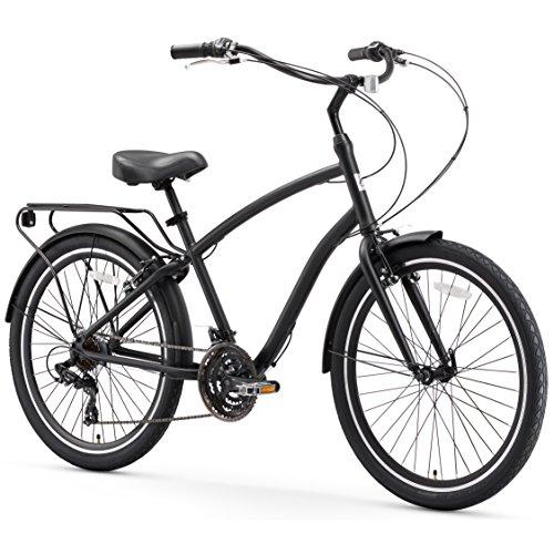 sixthreezero EVRYjourney Men's 21-Speed Hybrid Cruiser Bicycle, Matte Black