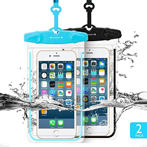 Universal Waterproof Case FITFORT 2 Pack Universal Dry Bag/ Pouch Clear Sensitive PVC Touch Scre ...