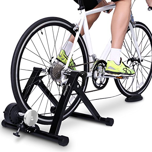 Bike Trainer Stand – Sportneer Steel Bicycle Exercise Magnetic Stand with Noise Reduction  ...