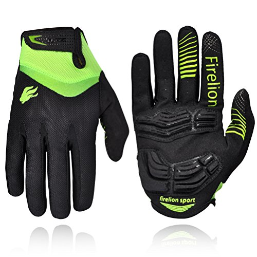 FIRELION Cycling Gloves Mountain Bike Gloves Road Racing Bicycle Gloves Gel Pad Riding Gloves To ...