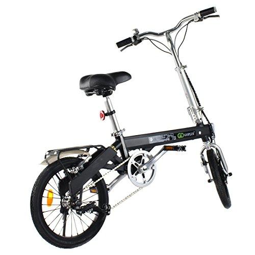 Goplus 180W Lightweight Folding Electric Bicycle Sport Bike Lithium Battery W/ Two Speed Electro ...