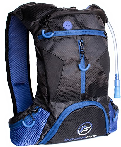 Hydration Pack with 1.5L Water Bladder – Highly Durable – Versatile & Lightweight Blue Hydra ...
