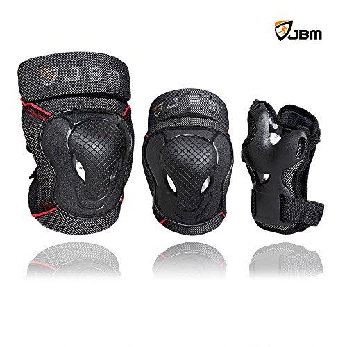 JBM Kids Child BMX Bike Knee Pads and Elbow Pads with Wrist Guards Protective Gear Set for Bikin ...