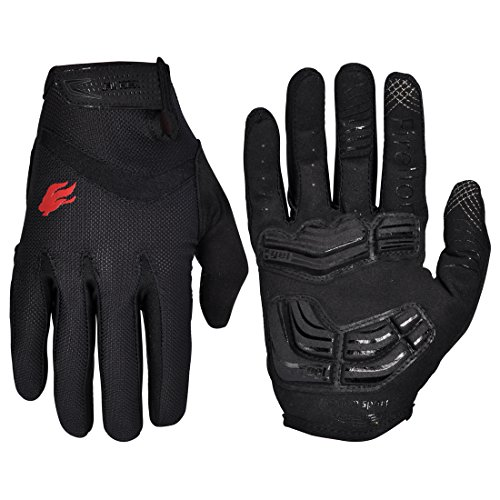 FIRELION Cycling Gloves Riding Mountain Bike Bicycle Racing MTB DH Downhill Off Road Glove