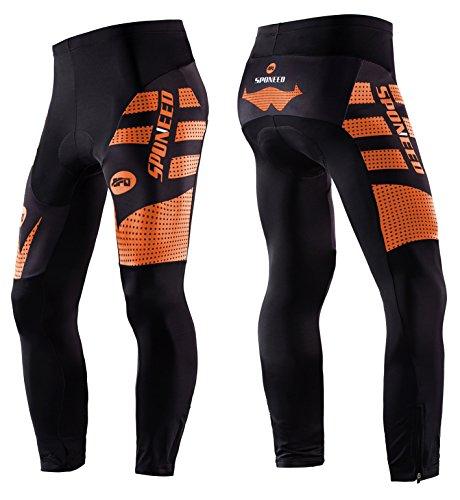 Sponeed Bicycle Pants for Men Bike Tights Gel Padded Cycle Leggings Windproof Ourdoor Biking Clo ...