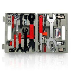 YaeTek 48 Pcs Multi-Function Bicycle Maintenance Tools Set Bike Repair Tool Kit with Portable Case