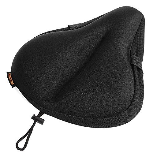 Kangora Gel Bike Seat Cover | Universal Padded Cushion for Exercise, Cycling, Mountain, Cruiser, ...