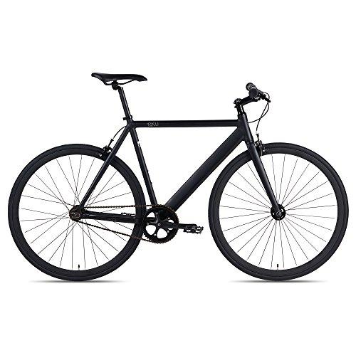 6KU Track Fixed Gear Bicycle, Black/Black, 55cm