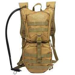 Hydration Pack Tactical Backpack with 3L Water Bladder Reservoir for Hiking Cycling Climbing Hun ...