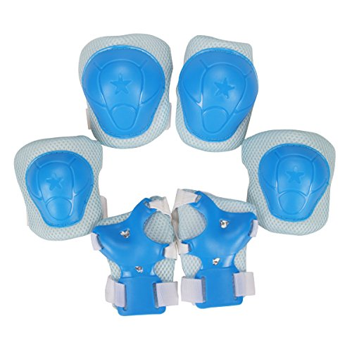 Libar Set of 6 Child Sports Protective Gear Safety Pad Safeguard Knee Elbow Wrist Support Pad Se ...