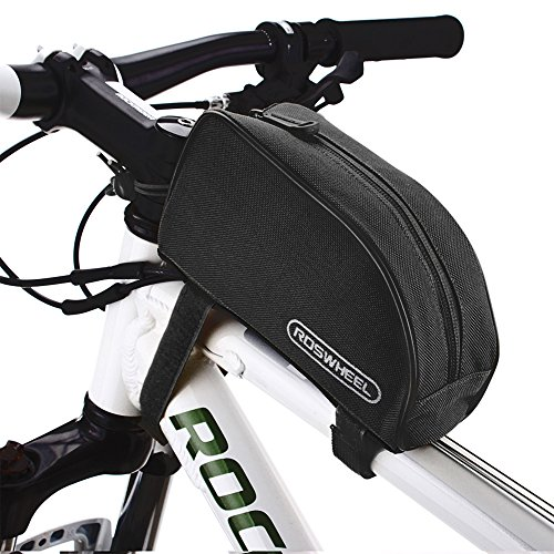 Allnice 12654 1L Outdoor Mountain Bicycle Cycling Frame Front Top PVC Tube Bag Bike Pouch (All B ...