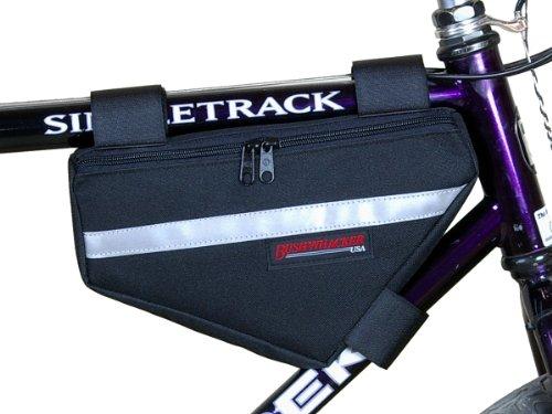 Bushwhacker Laredo Black – Bicycle Frame Bag w/ Reflective Trim Cycling Triangle Pack Bike ...