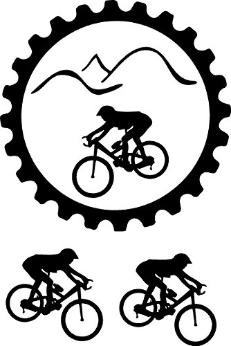 *Mountain Bike Sticker Decal* with two more bikes Available in All Colors , Just Message Me !