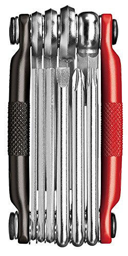Crank Brothers Multi-10 Bicycle Tool (Black/Red)