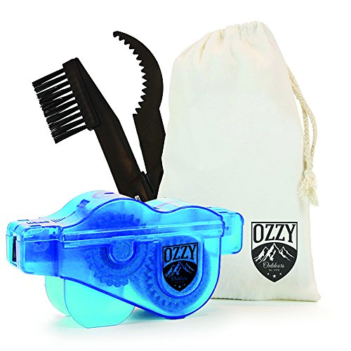 Bike Chain Cleaning Tool by Ozzy Outdoors-Our newly designed cleaner uses rotating brushes to ma ...