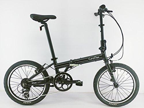 EuroMini Urbano 24lb Lightest Aluminum Frame Genuine Shimano 8-speed 20″ folding bike (Gray)