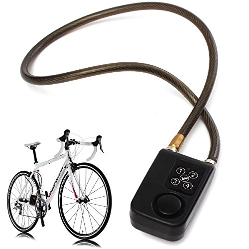 Hanperal Electronic Anti-Theft Lock Code Controlled Alarm Security Safe Chain For Bicycle