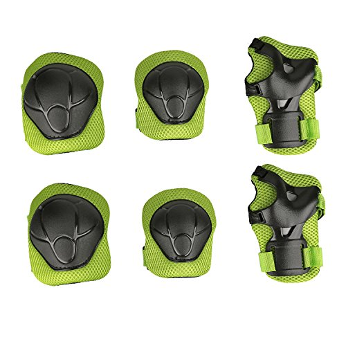 Child Protective Gear Set Physport Cycling Knee Pads and Elbow Pads with Wrist Guards for Cyclin ...