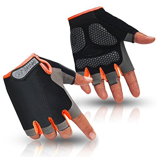 HuwaiH Cycling Gloves Men's/Women's Mountain Bike Gloves Half Finger Biking Gloves | ...