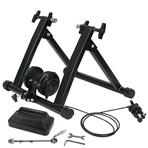 ZENY Magnet Bike Trainer Stand w/ 8 Levels Resistance Stationary Steel Bicycle Indoor Exercise T ...