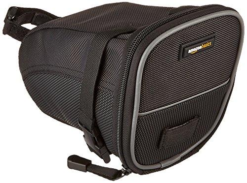 AmazonBasics Strap-On Wedge Saddle Bag for Cycling – Large