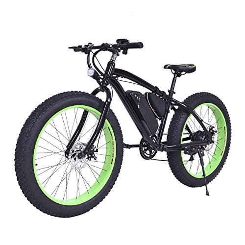 "Goplus 26"" Electric Mountain Bike Snow Beach Bicycle Fat Tire Bike w/ Lithium Battery 36V  ..."